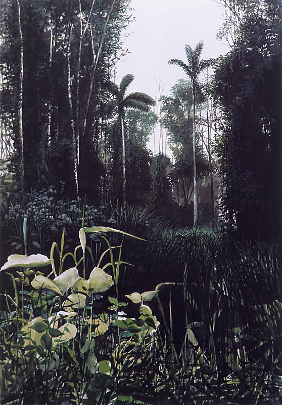 Tropico 170x120cm aquarela papel colada tela