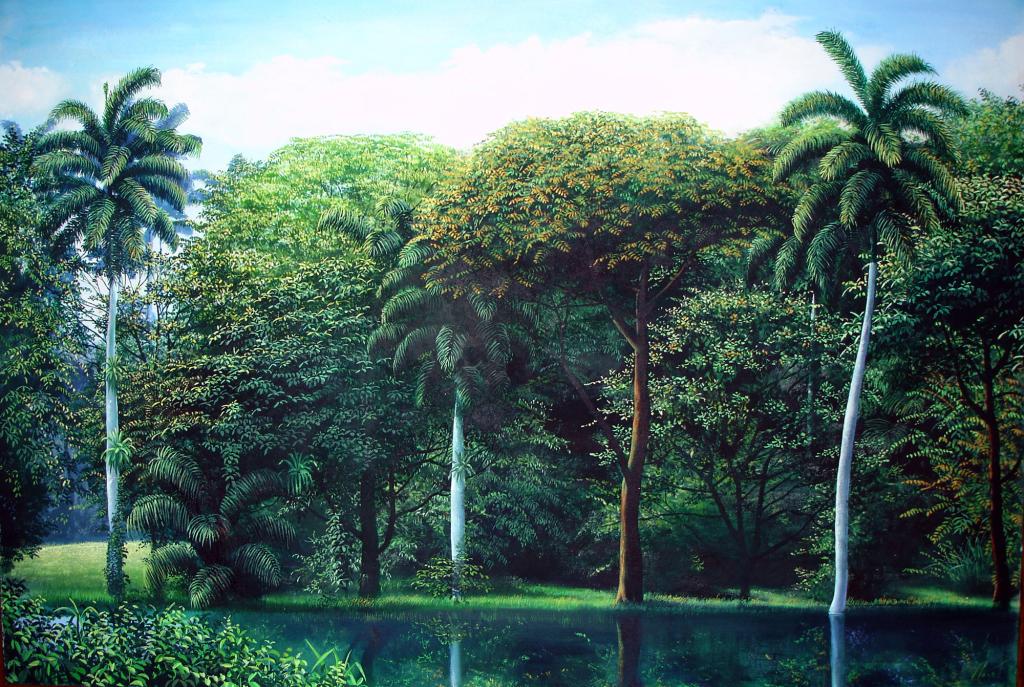 Fantasia 100x150cm oleo pastel papel 2006