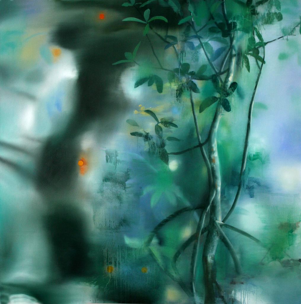 Florecer 170x170cm oleo sobre tela