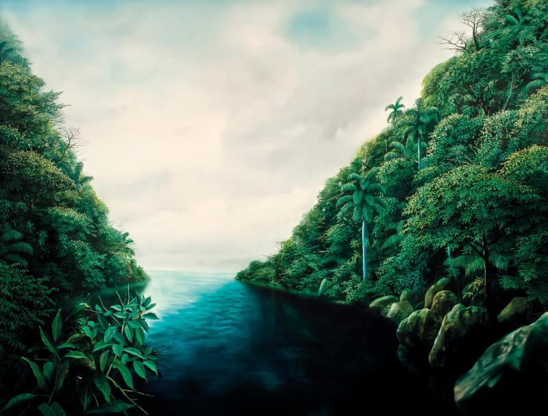 Calice de um instante escuro óleo sobre tela 150x200 2009