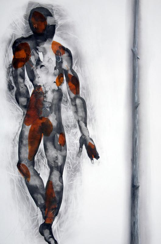 Geometria do desejo tecnica nanquim pastel tinta acrilica carvao sobre_papel 100X070cm 2012