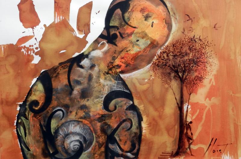 Silencio mista sobre papel 070X100cm 2012