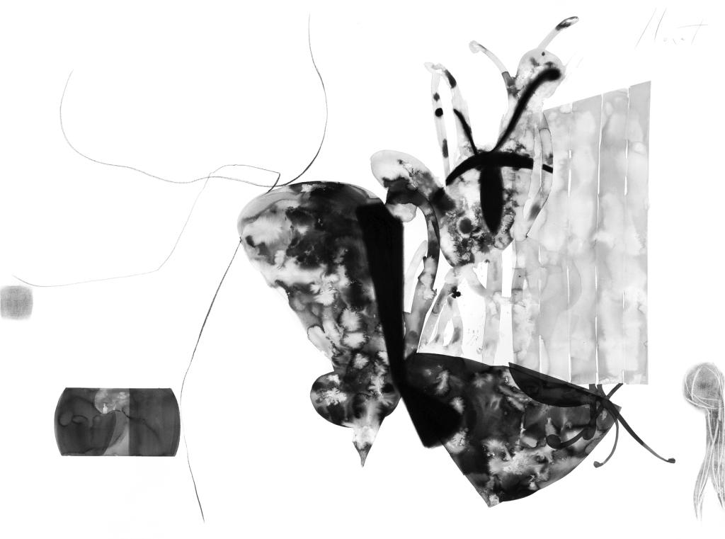 Transfiguração nanquim pastel carvao sobre papel 140X190cm 2013