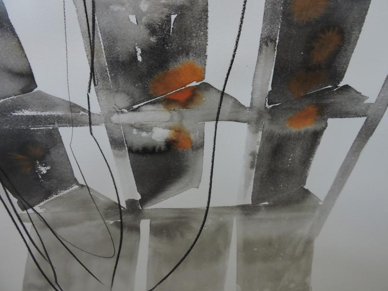 Vozes de outono nanquim pastel oleo carvao sobre papel 200X150 2014